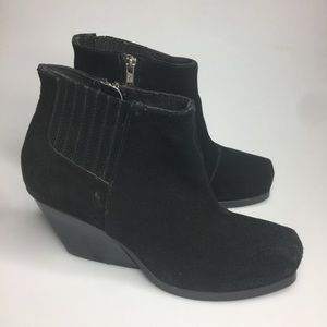 CHEAP MONDAY Suede 'Angle Low' Ankle Boots Booties